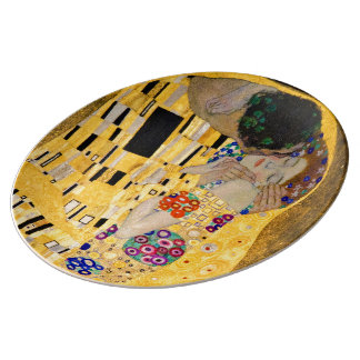 The Kiss , Gustav Klimt 磁器プレート