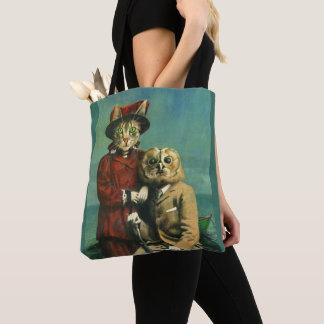 The Owl And The Pussy Cat All Over Print Tote Bag トートバッグ