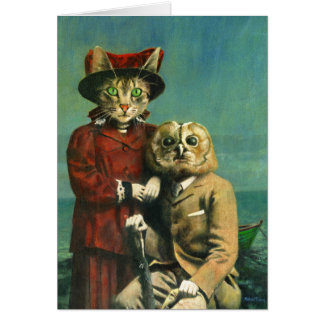 The Owl And The Pussy Cat Greetings Card カード