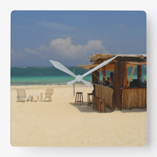 The Perfect Beach Bar スクエア壁時計