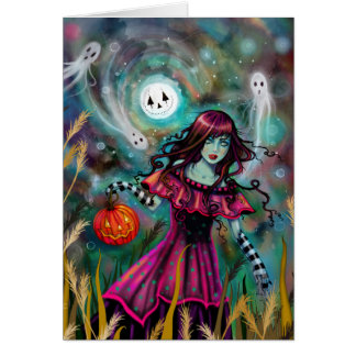 The Smiling Moon Gothic Fantasy Halloween Art カード