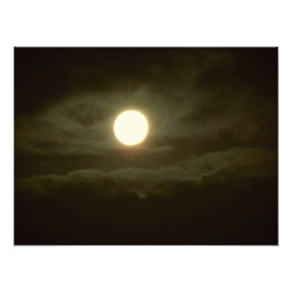 the super moon フォトプリント