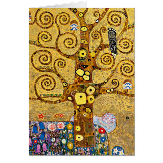 """ The Tree of Life "" , Gustav Klimt グリーティングカード"