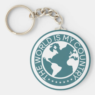 The World is My Country Keychain. キーホルダー