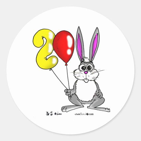 The Year 2011 Rabbit ラウンドシール