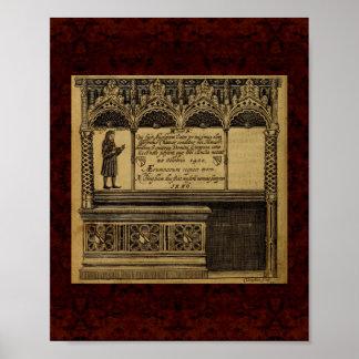 Theatrum Chemicum: 1652年の錬金術のイラストレーション ポスター