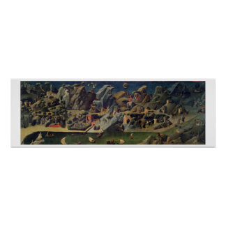 Thebaid、c.1410 (パネルのテンペラ) (16294をまた見て下さい ポスター