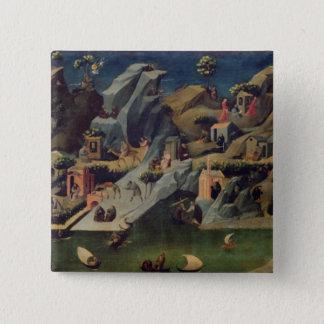 Thebaid、c.1410 (パネルのテンペラ) (16294をまた見て下さい 5.1cm 正方形バッジ