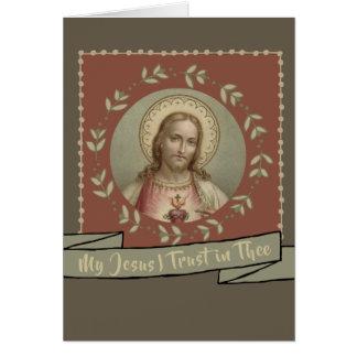 Theeのイエス・キリスト私のIの信頼 カード
