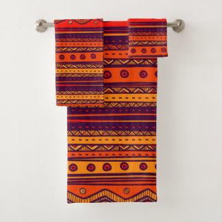 Themed African Tribal pattern towel set バスタオルセット