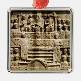 Theodosiusのオベリスクの基盤のレリーフ、浮き彫り メタルオーナメント