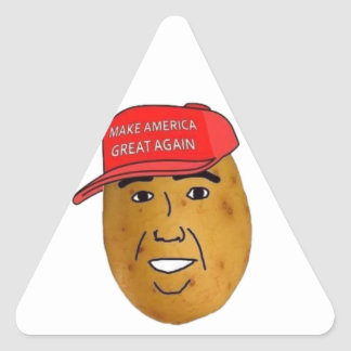thepotatoofficialロゴ 三角形シール