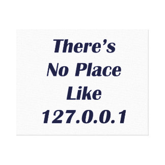 Theresは場所127001を好みません キャンバスプリント