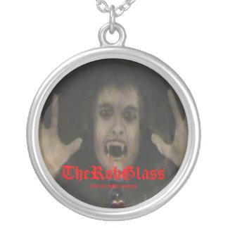 TheRobGlassの吸血鬼のジュエリーのネックレスのチャーム シルバープレートネックレス