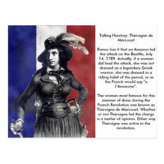 Theroignee de Mericourtt Frenchの革命家 ポストカード