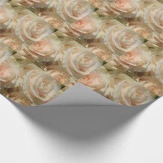 Therosegarden著柔らかいピンクのバラ ラッピングペーパー