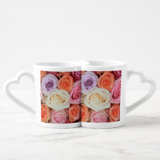 Therosegarden著混合されたパステル調のバラ ペアカップ