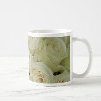 Therosegarden著白いバラ コーヒーマグカップ