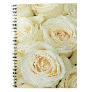 Therosegarden著白いバラ ノートブック
