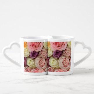 Therosegarden著粉によって着色されるバラ ペアカップ