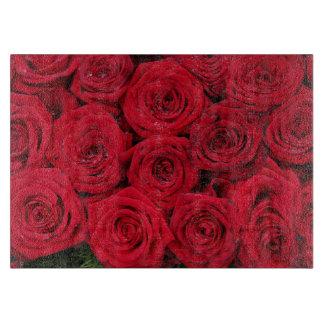 Therosegarden著赤いバラ カッティングボード