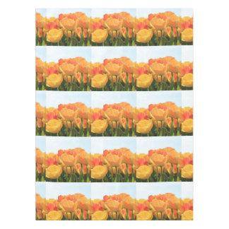 Thespringgarden著オレンジ黄色のチューリップ テーブルクロス