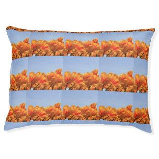 Thespringgarden著オレンジ黄色のチューリップ ペットベッド