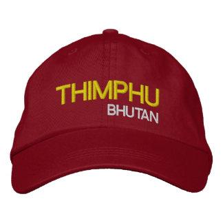 Thimphu*のブータンの帽子ティンプーブータンGewohnhe 刺繍入りキャップ