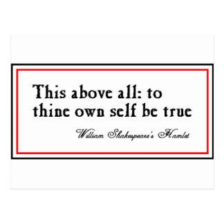 """""""Thineに所有して下さい自己をあります本当が"""" ポストカード"""