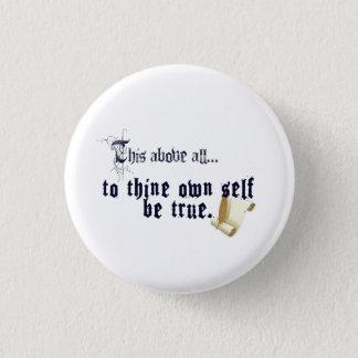 Thineに自己をあります本当ボタンが所有して下さい 3.2cm 丸型バッジ