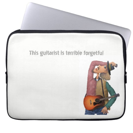 This guitarist is terrible forgetful ラップトップスリーブ