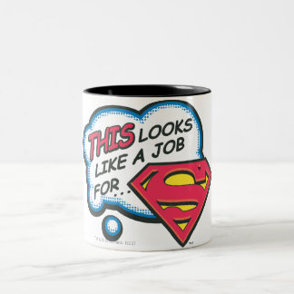 This Looks Like a Job for Superman ツートーンマグカップ