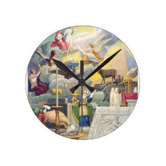 thoの世界の宗教のグループ ラウンド壁時計