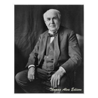Thomas Alva Edisonポスター ポスター