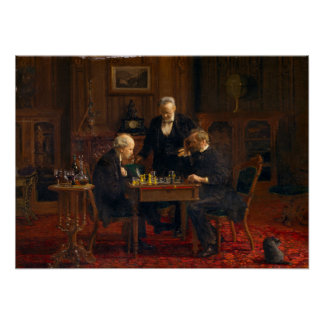 Thomas Eakins The Chess Players ポスター