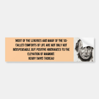 Thoreauのバンパーステッカー バンパーステッカー