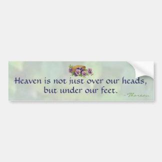 Thoreauの天国 バンパーステッカー