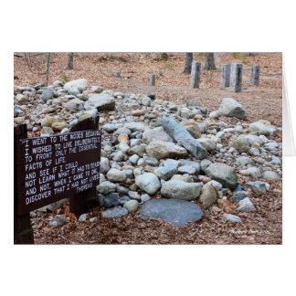 *Thoreauの小屋の基礎の位置 カード