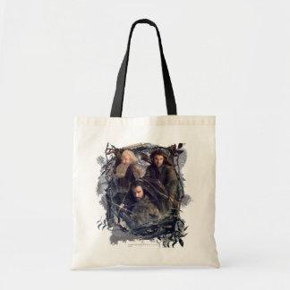 Thorin、KiliおよびBalinのグラフィック トートバッグ