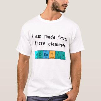 Thorntonの周期表の名前のワイシャツ Tシャツ