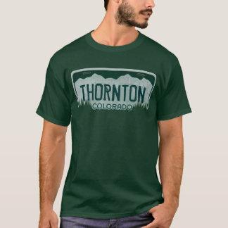 Thorntonコロラド州の人のナンバープレートのティー Tシャツ