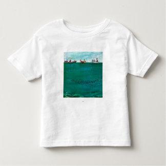 Thornton Utz著ライン間の魚の学校 トドラーTシャツ