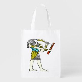 Thothの伝統的なエジプト人 エコバッグ