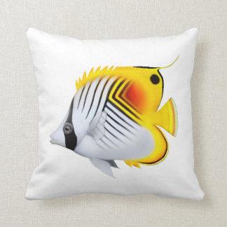 ThreadfinのAurigaのButterflyfishの枕 クッション