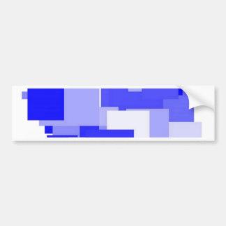 Threadlessの青の正方形 バンパーステッカー
