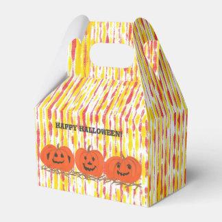 Three Smiling Pumpkins Happy Halloween Treat Boxes フェイバーボックス