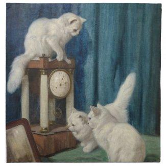 三匹の白猫 ナプキン