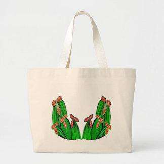 Thremeの緑-エキゾチックなサボテンの花 ラージトートバッグ