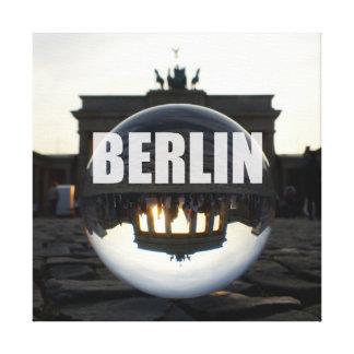 Through the crystal ball, Brandenburg Gate キャンバスプリント
