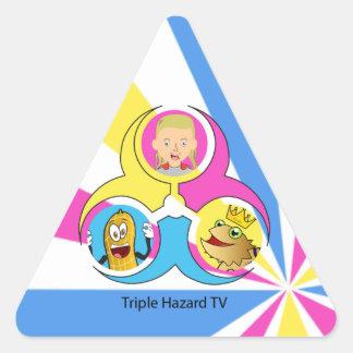 THTVのステッカーのパック 三角形シール